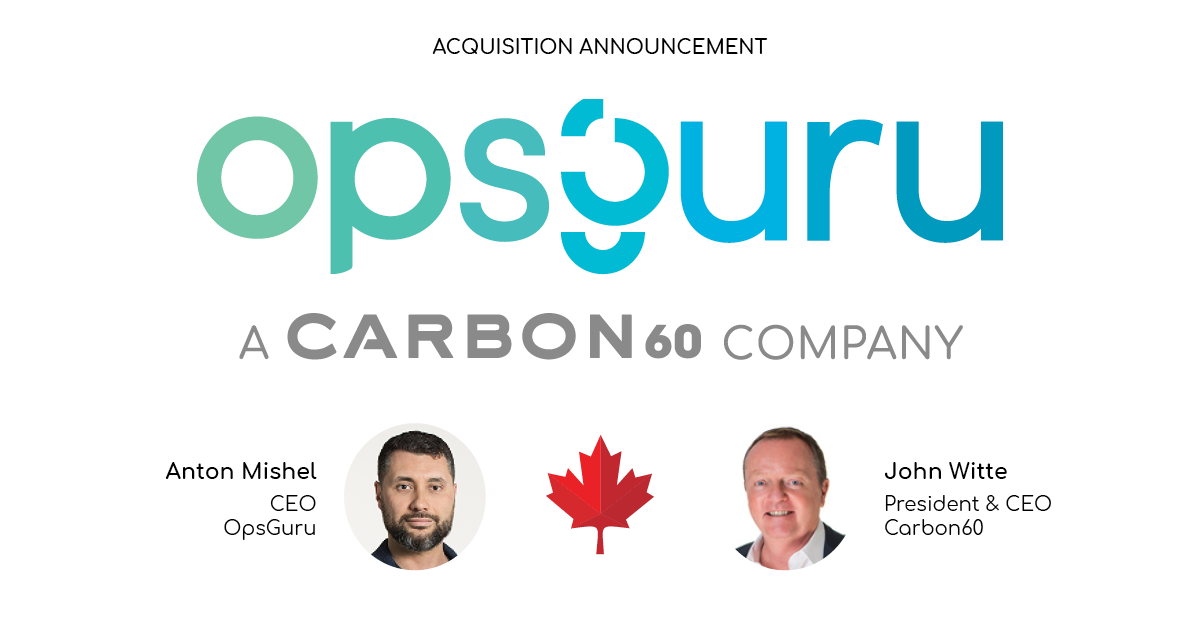 Carbon60 welcomes OpsGuru, bringing award-winning multi-cloud consulting and DevOps services to more Canadian businesses